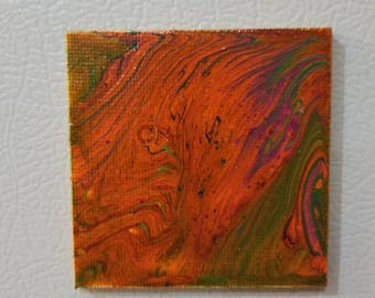Magnet small abstract paint
