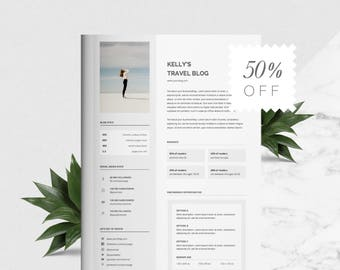 1 Page Blog Media Kit for Creatives | Branding Kit | MS Word and Photoshop Templates | Blogger Media Kit