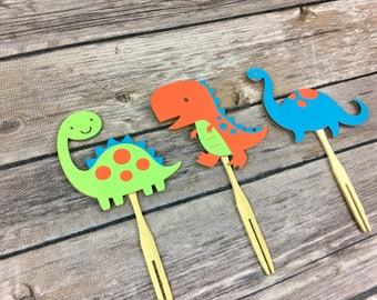 Dinosaur Cupcake Toppers, Dinosaur Party, Birthday Party, Baby Shower