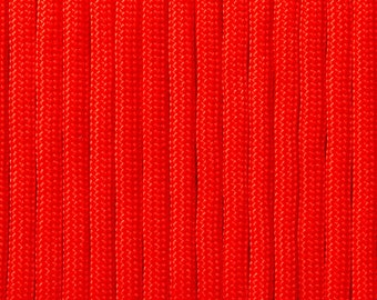 Vermilion red Paracord from 5 meters