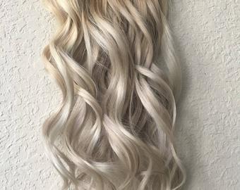 Natural Blonde Balayage  Clip in Hair Extensions, Human Hair Extensions, Balayage Hair, Blonde Hair, Clip in Extensions, Ombre Extensions