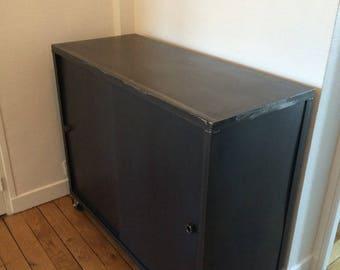 Industrial style furniture, cabinet doors