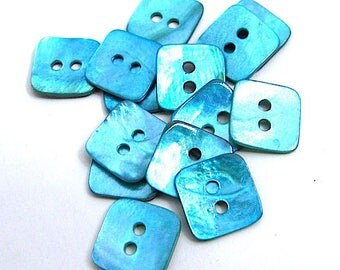8 buttons shape Pearl 14 mm square.