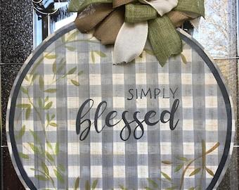 Simply Blessed Door Hanger