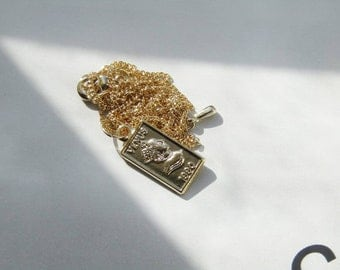 Gold bar pendant, layering necklace,