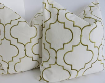 Cream Gold Dwell Pillow Cover- Pillow Cover- Cream Pillow Cover- Gold Pillow Cover- Cream Pillow Cover- Accent Pillows
