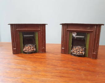 Rare Vintage Charbens Lead Fireplaces 1930s
