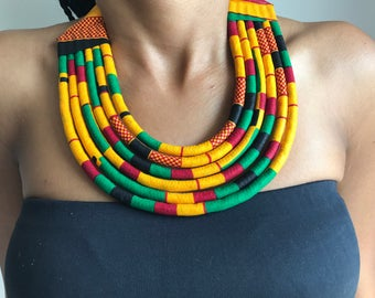 Multicolored Maasai necklace made of wax