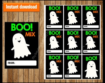 Boo Mix Thank You Tags - Halloween Tags - Halloween Favor Tags - Halloween Gift Tags - Halloween Labels - Halloween Treat Tags