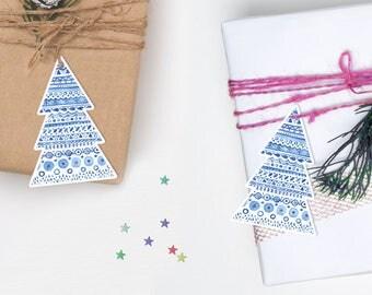 Christmas tree gift tags, Printable Christmas Gift tags, Christmas tree tags, Christmas Printables, Xmas gift tags, Printable Christmas tags