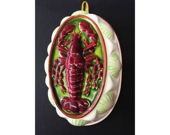 Vintage 70's Lobster Ceramic Kitchen Art