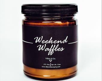 Belgian Waffle Scented Candle, Banana Waffle Soy Candle, Weekend Waffle Candle, Breakfast Waffle Candle, New Home Waffle Candle, Waffle Gift