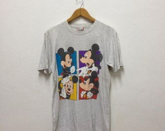 20% OFF SALE Mickey Mouse, 80s 90s Mickey, vintage t shirt, Mickey shirt, vintage Mickey Mouse tee, Size S/M