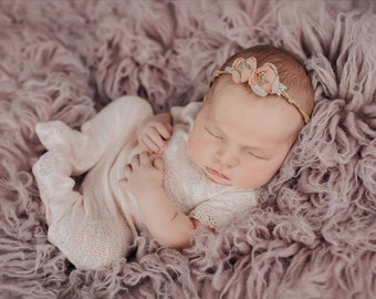 Lace Romper, Baby Girl Photo Outfit, Newborn Romper, Apricot, Newborn Photo Prop, Newborn Overall, Newborn Props, Baby Romper, Overall Prop