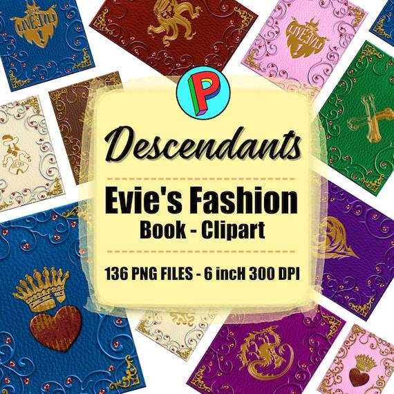 Fashion Book Cover Page : Descendants evie s fashion book cover clipart