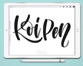Procreate Brush, Koi Pen ,Procreate Brush, brush lettering, Procreate Brushes, Procreate Brush, Calligraphy, iPad lettering