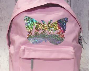 Back To School, School Bag, Personalised Bag, Backpack, Children's Bag, Kids Backpack, Nursery Bag, First Day At School, Kids Bag