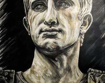 Auguste emperator pencils and pens on paper a3