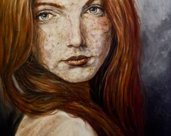 a foxy lady painting oil