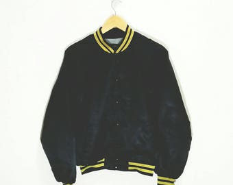 Rare Vintage CATERPILLAR Spell Out Baseball Jacket Nylon Made In Usa Size 3XL Hip Hop Swag Rap Jacket