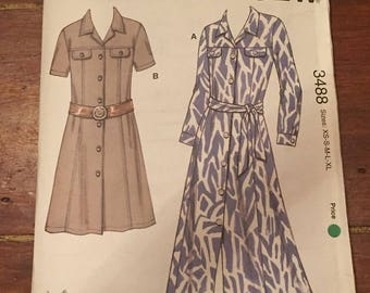 Vintage Dress Pattern - XS - XL