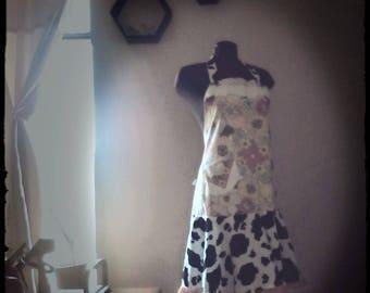 70's tablecloth apron