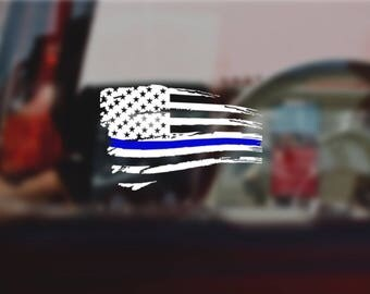 Back The Blue Flag | Vinyl Decal