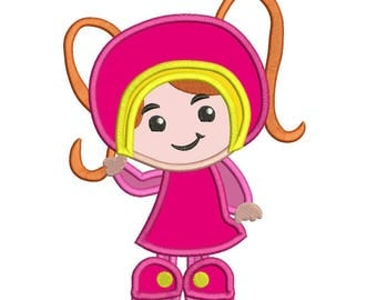 Team Umizoomi Milli Applique Design 3 sizes Instant Download