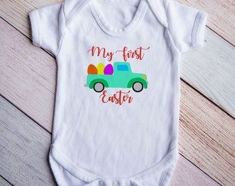 Easter Shirt for Boy,  Easter Shirt Toddler, Easter Shirt Baby Boy, First Easter Shirt, Easter Truck shirt, Easter Bunny Shirt
