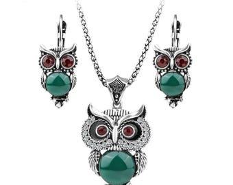 Owl Jewerly Set