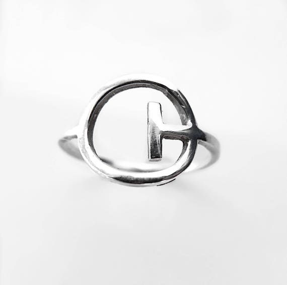 Abstract Circle Ring / Circle Ring / Geometric Ring / Abstract Ring / Minimalist Ring / Silver Circle Ring / Silver Ring / Womens Ring