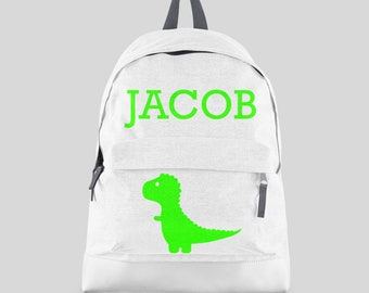 Personalised Boys Dinosaur Backpack with ANY NAME- Kids Children Teenagers School Student rucksack - Back To School Bag Backpack -CBPD