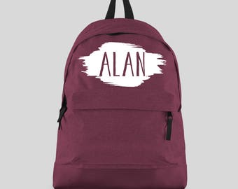 Personalised Backpack with ANY NAME- Kids Children Teenagers School Student rucksack - Back To School Bag Backpack -CBPSW
