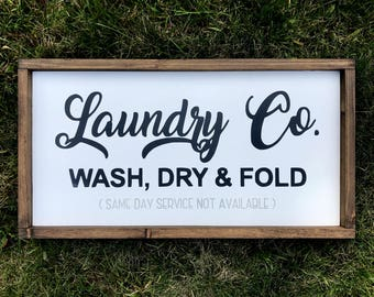 Wood Sign| Laundry |  Farmhouse sign