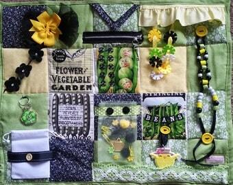 A Time to Plant Fidget Blanket - Fidget Quilt for Alzheimers, Dementia, Stroke, Nursing Home patients