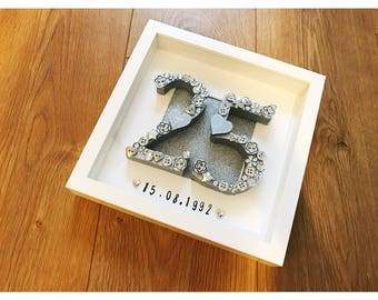 silver wedding anniversary gift, 25 years, personalised anniversary, anniversary present, silver anniversary, silver frame