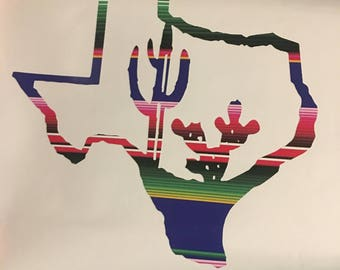 Texas Serape Decal