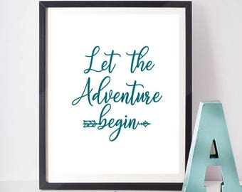 Adventure Printable,Lettering Art, Printable Nursery Art, Nursery Lettering  Art, Instant Printable Art Decor, Instant Digital Download