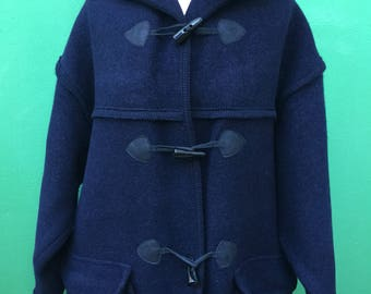 Made in Italy | Toggle Coat | Hooded Coat | Wool jacket Cotta | Tyrolean Jacket | Vintage Coat | Blue Coat | Vintage Wool Coat | Wool Coat |