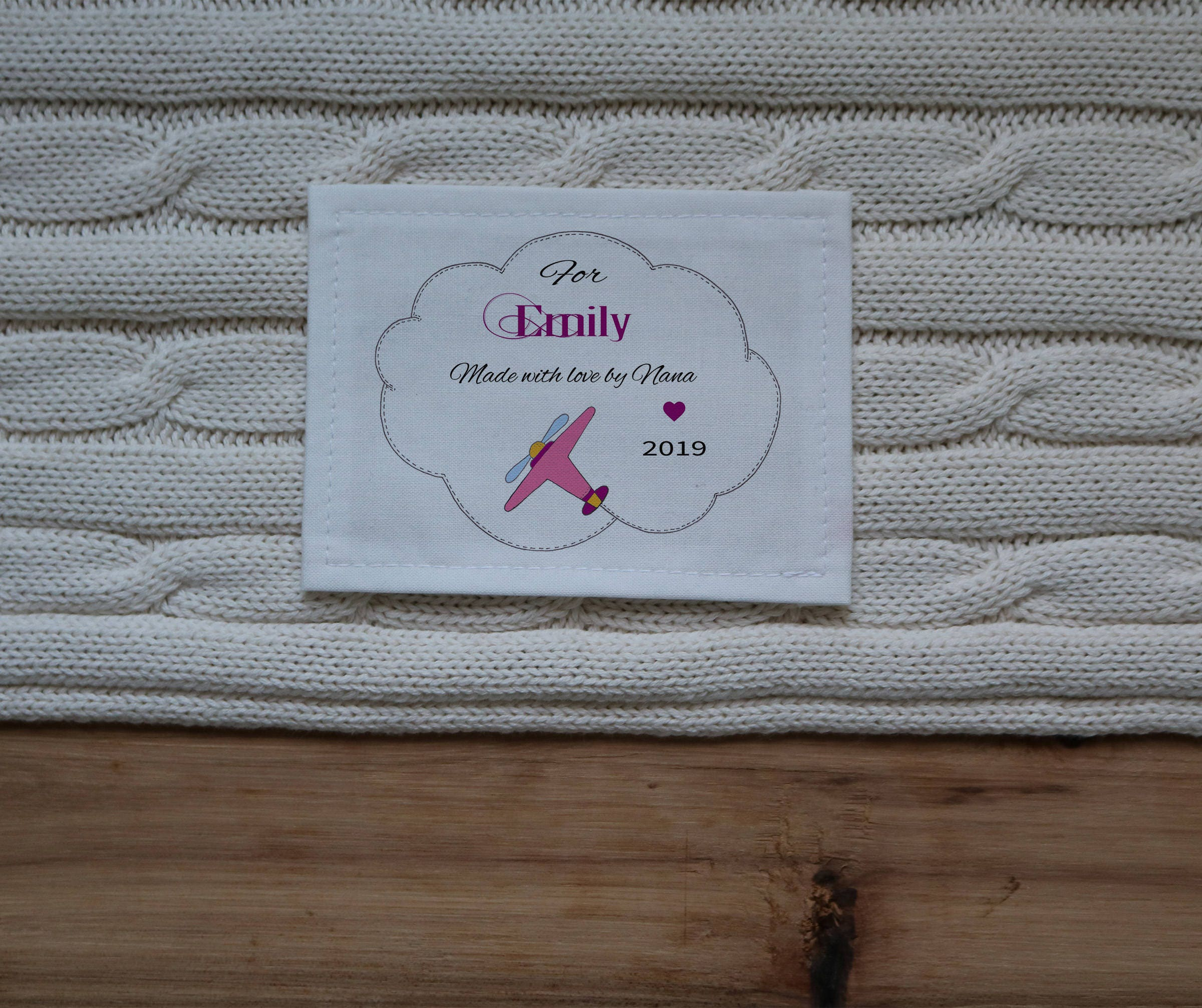 Quilt Label Blanket Labels Personalized Sewing Labels