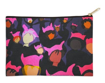 Zippered Pouch - Women's March- Ceci Bowman Designs