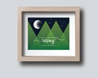 Bad Moon Rising Printable