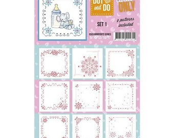 Set of 9 cards by coloring, 3D, series 1 chromos