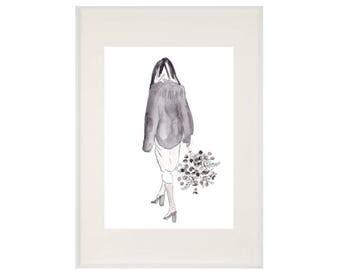 Fashion Flora Print - A4