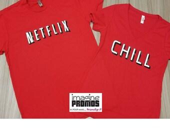 Netflix and Chill Matching Shirts