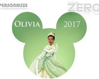 Disney Princess Clipart, Tiana Mickey Head Iron on, Personalize, Printable Iron On Transfer - DIY Disney Shirt, Tiana Clipart, Tiana Shirt
