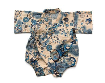 Baby kimono romper, baby romper, new baby gift, newborn gift, gender neutral baby clothes, baby jinbei, baby outfit, baby boy kimono
