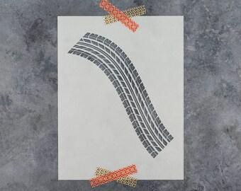 Tire Tracks Stencil - Reusable DIY Craft Stencils of a Tire Track