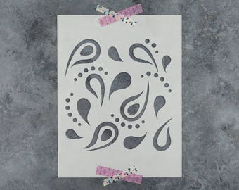 Paisley Stencil - Reusable DIY Craft Stencils of a Paisley Pattern
