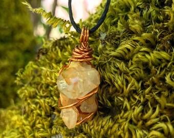 Reiki Infused Arkansas Quartz Necklace